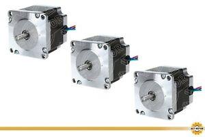 DE Free 3PCS Nema23 Schrittmotor 23HS6430 56mm 3A Bipolar 1.1Nm φ6.35mm 160oz-in