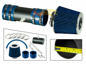 BLUE RW Ram Air Intake Kit+Filter For 07-11 Acadia/Enclave/Traverse/Outlook 3.6L