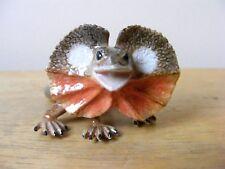 Klima Frilled Neck Lizard Miniature Animal Figurine Support Wildlife Rehab