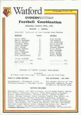Arsenal Football Reserve Fixture Programmes (1980s)
