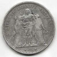 Francia 5 Francos 1875 A HERCULES plata  @ BELLA @