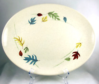 "Autumn Platter Franciscan Gladding McBean 13"" Oval Serving California Pottery"