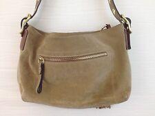 COACH Handbag Suede Leather Purse Vintage 1421 Tan Camel Fringe Pulls Very SOFT