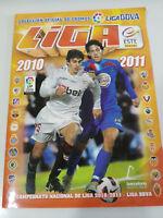ALBUM DE CROMOS DE LA LIGA DE FUTBOL ESPAÑOLA 2010 2011 CROMOS INCOMPLETO
