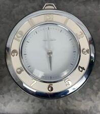 Vintage Modern Thomas O'Brien Stopwatch Clock, Silver & White