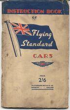 Standard Flying Nine Ten Twelve Fourteen Twenty 1937-38 Owners Instruction Book