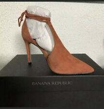 NEW BANANA REPUBLIC DEANNA LEATHER Lace Up Point Toe PUMPS CINAMONG Size 5.5.