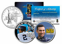 DEREK JETER *Rookie of the Year & World Series MVP* NY State Quarters 2-Coin Set