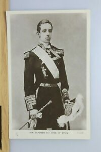 Alfonso XIII King Of Spain Tucks Real Photograph Postcard c.1910 Unused RP