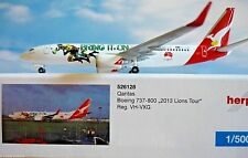 "Herpa 526128 1 500 Qantas Boeing 737-800 ""2013 Lions Tour"""