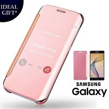 Rose Gold Mirror Flip Leather Protect Case Cover For Samsung Galaxy J3 / J3 2016