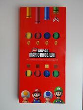 Club Nintendo New Super Mario Bros. Wii 4-Color Original Wii Remote Strap Set