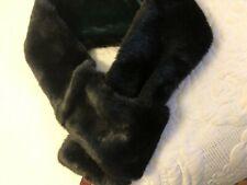 Faux Fur Dents Black Neck Collar