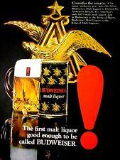 """1971 Budweiser Malt Liquor Ad -8.5 x 10.5""""Original Print Ad"""
