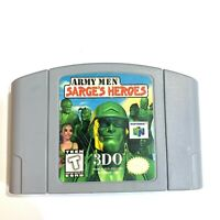 Army Men Sarge's Heroes - Nintendo 64 N64 Game - Tested - Working - Authentic!