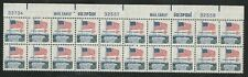 #1338F Flag over White House 8c Top Floating Plate Block/20 Mint NH Config.'B'