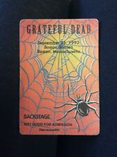 Grateful Dead Backstage Pass Boston Spider Web Steal Your Face 9/25/1993 Mass Ma