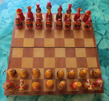 VECCHI SCACCHI RUSSI MATRYOSHKA VINTAGE RUSSIAN CHESS WITH CHESSBOARD