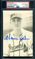 Warren Spahn PSA DNA Coa Signed Photo Postcard Autograph