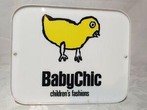 Vintage NOS  Children's Fashions / Clothing Light Box / Sign - BabyChic -24cm -