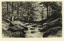 EDUARD WEICHBERGER - WALDBACH - Radierung 1905