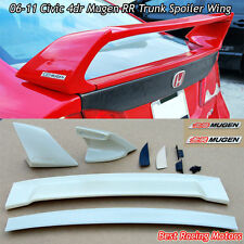 Mu-gen RR Style Trunk Spoiler Wing (ABS) + Emblem Fit 06-11 Honda Civic 4dr