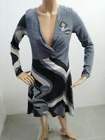 Vestitino DESIGUAL Donna taglia size L dress woman maglia lunga cotone p 5705