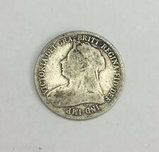 Antique Victorian Victoria 1895 One Shilling Coin