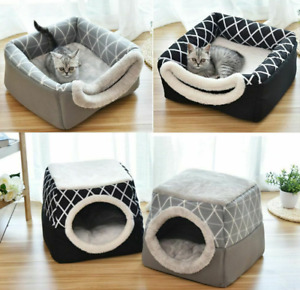 Pet Bed For Cats Nest Kennel Cave House Sleeping Bag Mat Pad Tent For Warm Days