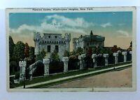 Washington Heights New York Paterno Castle Vintage Postcard