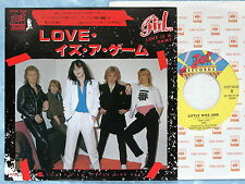"""GIRL Love Is A Game 07SP508 JAPAN 7"""" 132az36"""