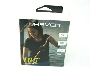 BRAVEN B105BBB Black Wireless Portable Bluetooth Speaker w/Action Mount -SEALED