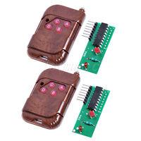 2sets 4 Channel 315MHZ RF Radio Wireless Controller Module Remote Control
