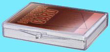 1 ULTRA PRO 25 COUNT CLEAR HINGED CARD STORAGE BOX Case Holder Sports Trading