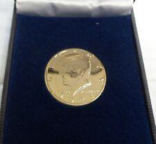 1971 kennedy 1/2 dollar plated coin