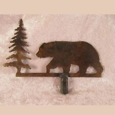 BEAR / TREE SILHOUETTE LAMP FINIAL for old antique shade or lampshade, rustic