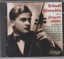 YEHUDI MENUHIN PLAYS FAVOURITE ENCORES..CD ALBUM..NEW SEALED
