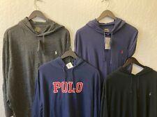 BIG & Tall Polo Ralph Lauren Hooded Pullover t-shirt long sleeve NWT Black Navy