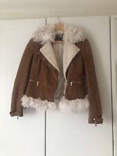 Karen Millen Leather Aviator jacket UK 10