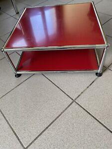 USM Haller Büro Kopierer Druckertisch Beistelltisch TV Tisch Rot 500x500x175