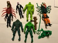 Vintage 1990 dc Kenner swamp thing lot of 6 action figures snare arm unmen