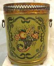 Toleware,metal wastebasket or planter