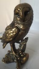 BRONZED BEAUTIFULLY CRAFTED OWL ORNAMENT FIGURINE FROM LEONARDO COLLECTION