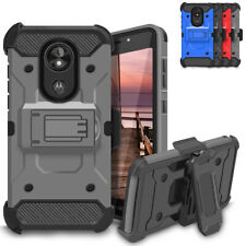 For Motorola Moto G7 G6 Z3 E5 Plus Holster Case Rugged Belt Clip Kickstand Cover