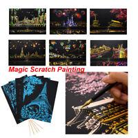 Kinder Zeichnung der Beschichtung Scratch Book Graffiti Gemälde Doodling