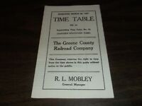 MARCH 1927 GREENE COUNTY RAILROAD PUBLIC TIMETABLE #13 REPRINT