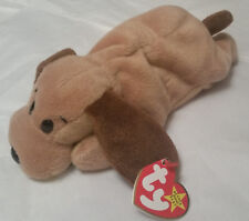TY Beanie Babies, Bones the dog - retired 1998 - with red hang tag