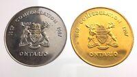 1967 Centennial Commemorative Mining Token Confederation Ontario Canada P140