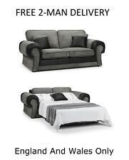 JUMBO CORD 2-SEATER METAL ACTION SOFABED IN GREY