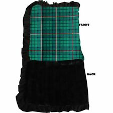 Mirage Pet Products Luxurious Plush Pet Blanket Green Plaid Jumbo Size